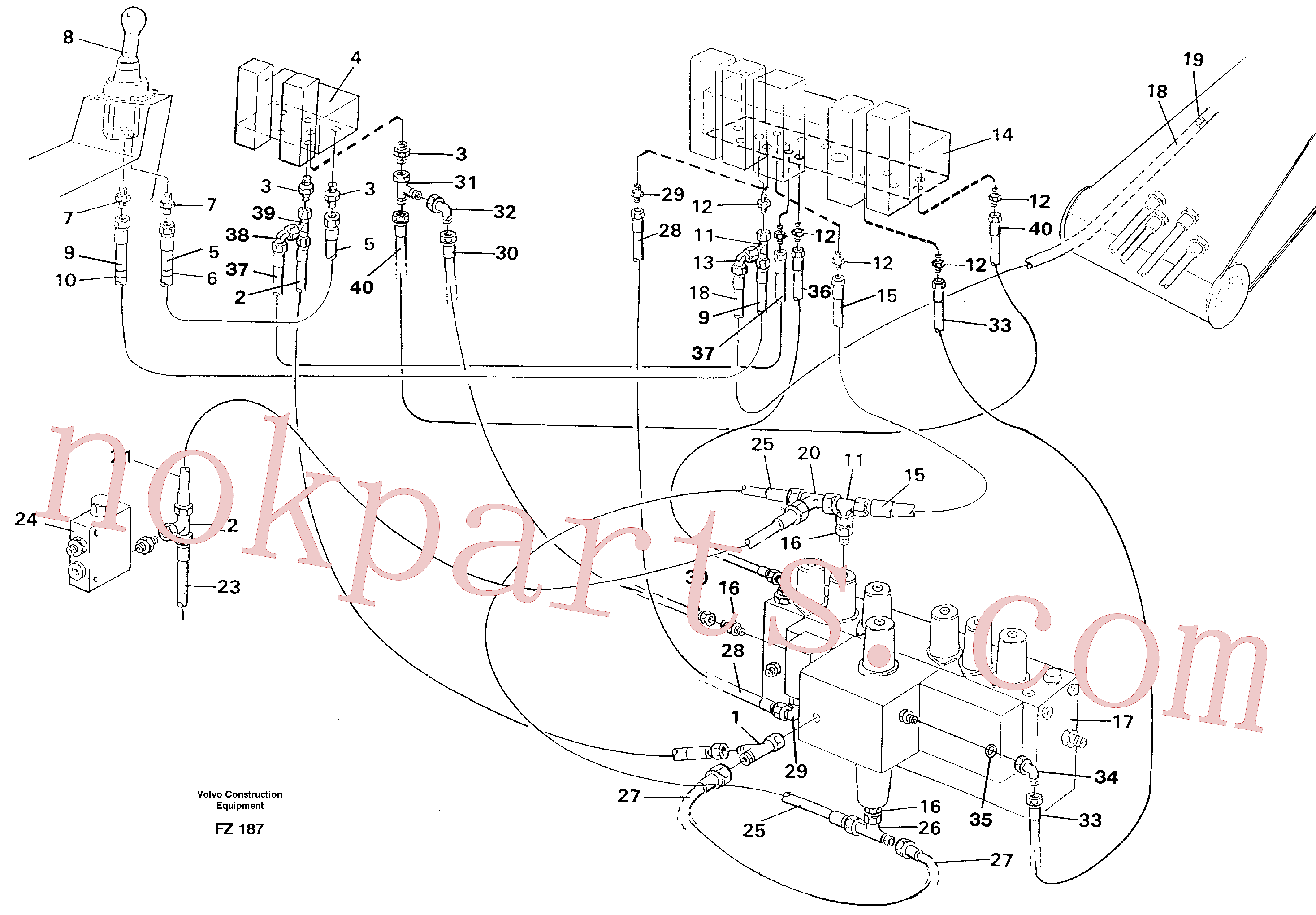 VOE14263247 for Volvo Servo hydraulics, boom(FZ187 assembly)