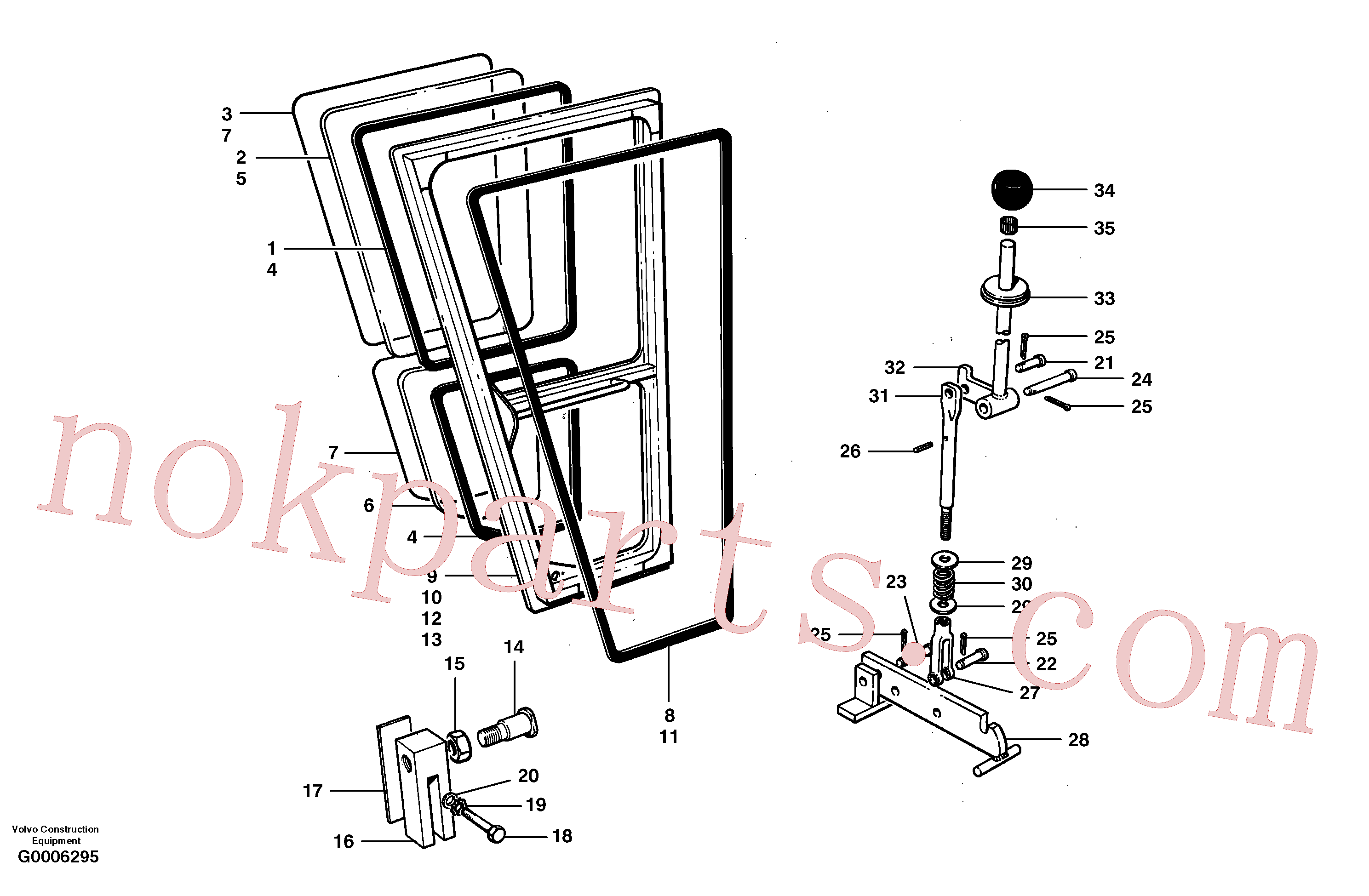 VOE983337 for Volvo Doors and latch(G0006295 assembly)