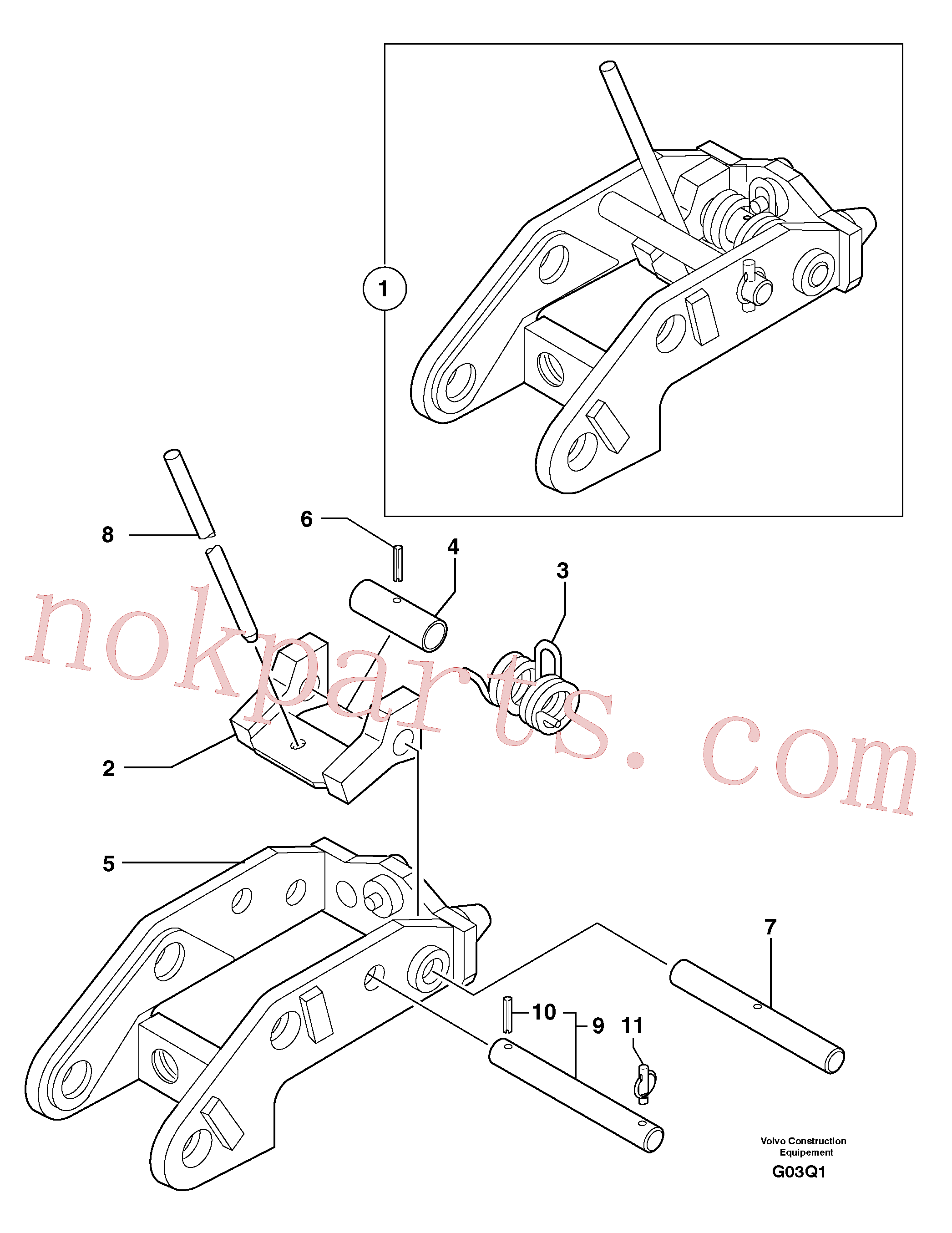 VOE11805859 for Volvo Tool holder / mechanical control(G03Q1 assembly)