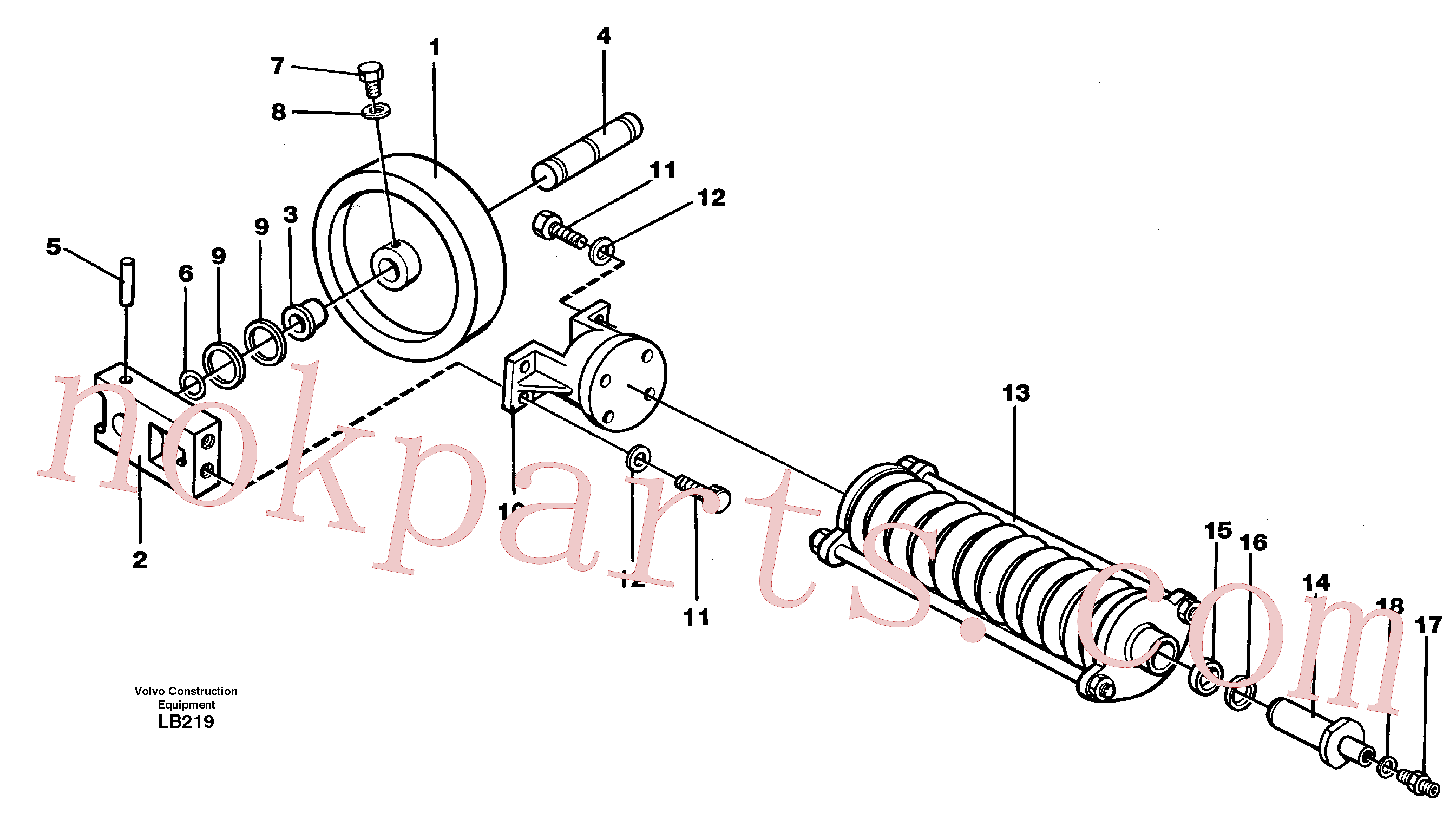PJ5600007 for Volvo Front wheel, spring package and tension cylinder(LB219 assembly)