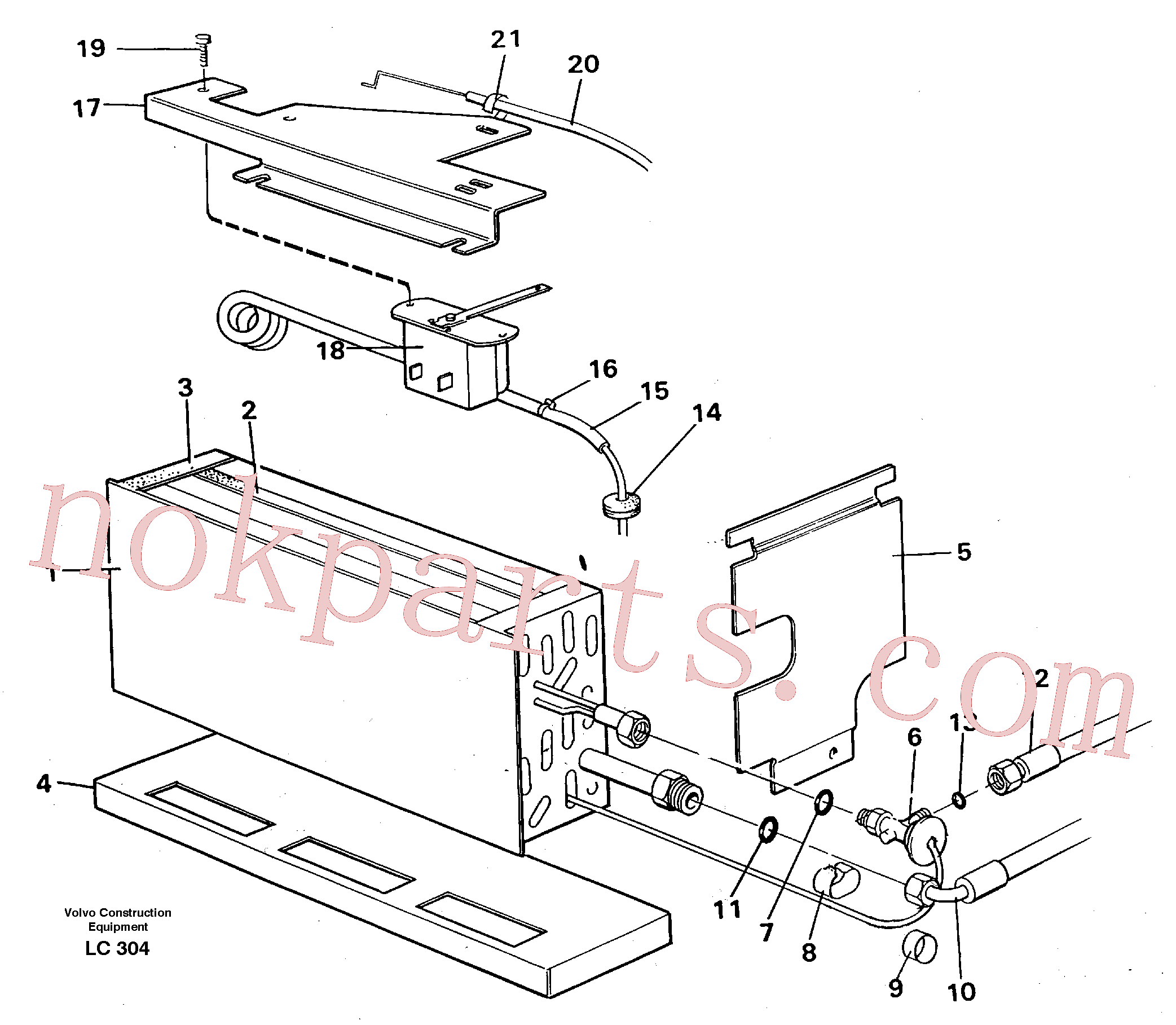 VOE14216276 for Volvo Evaporator with fitting parts, cooling agent R134a(LC304 assembly)