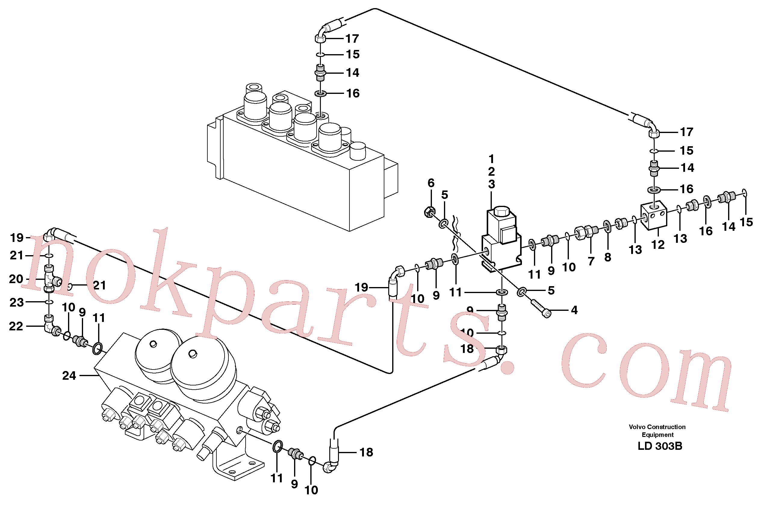 VOE14346728 for Volvo Hammer control, operating valve(LD303B assembly)