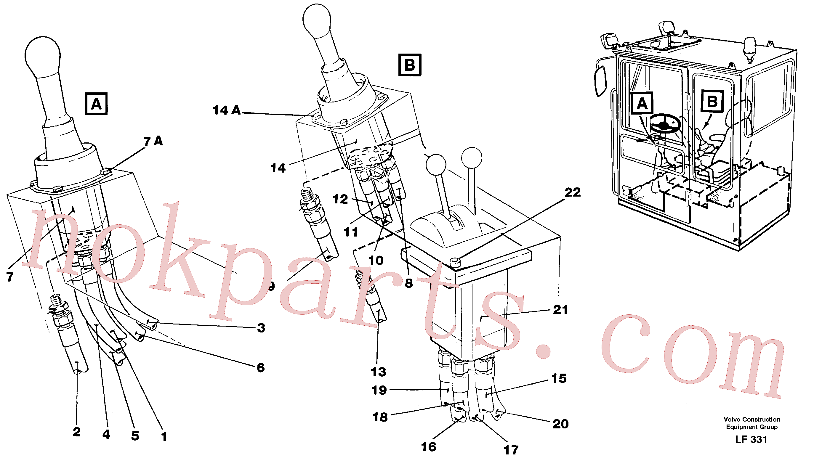 VOE14260245 for Volvo Joy Stick Left and Right(LF331 assembly)