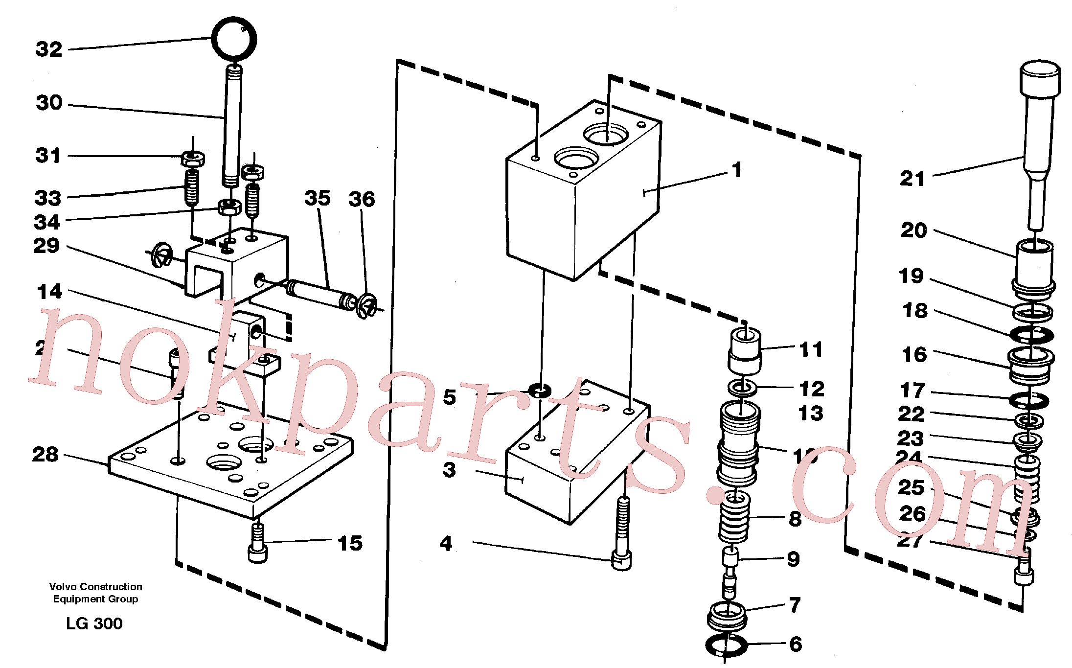 VOE14244422 for Volvo Control pressure valve(LG300 assembly)