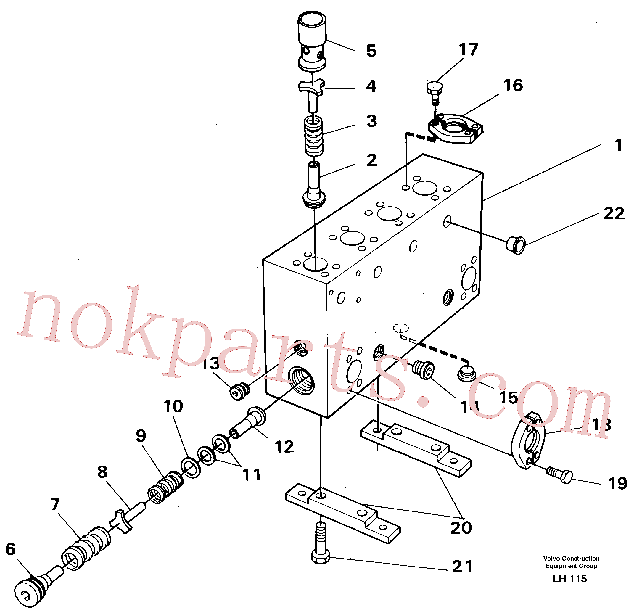 VOE14232079 for Volvo Connection board(LH115 assembly)