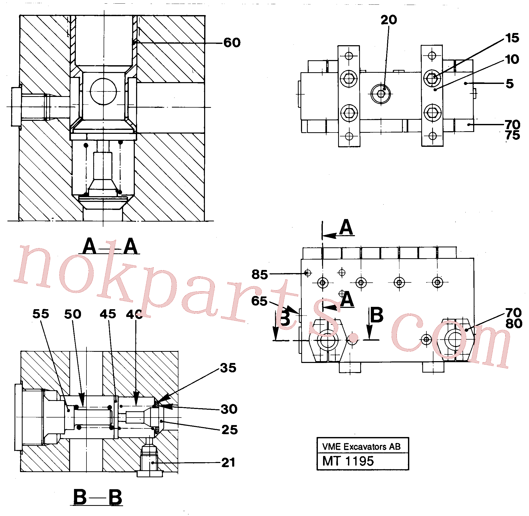 VOE14232079 for Volvo Connection board(MT1195 assembly)