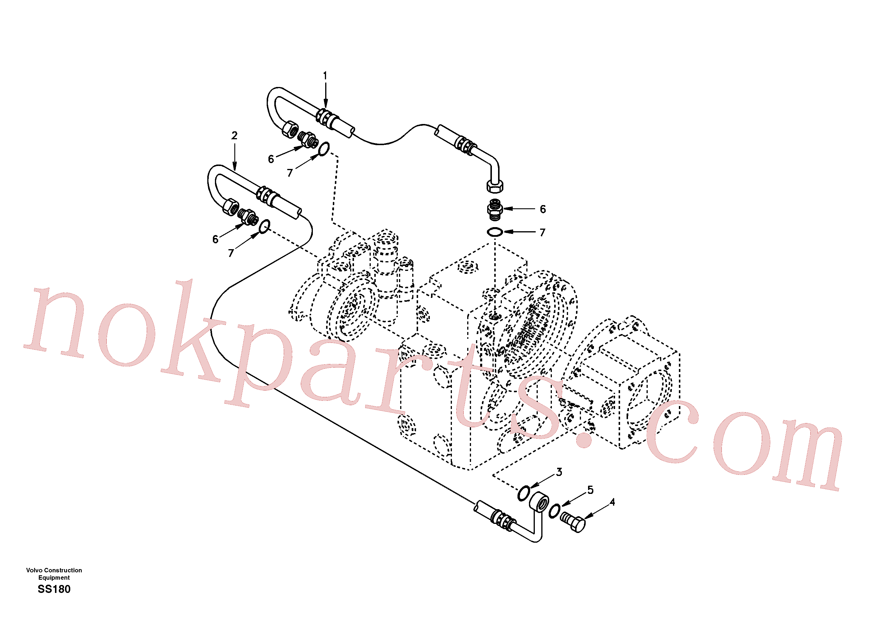 SA8220-03600 for Volvo Oil pipe(SS180 assembly)