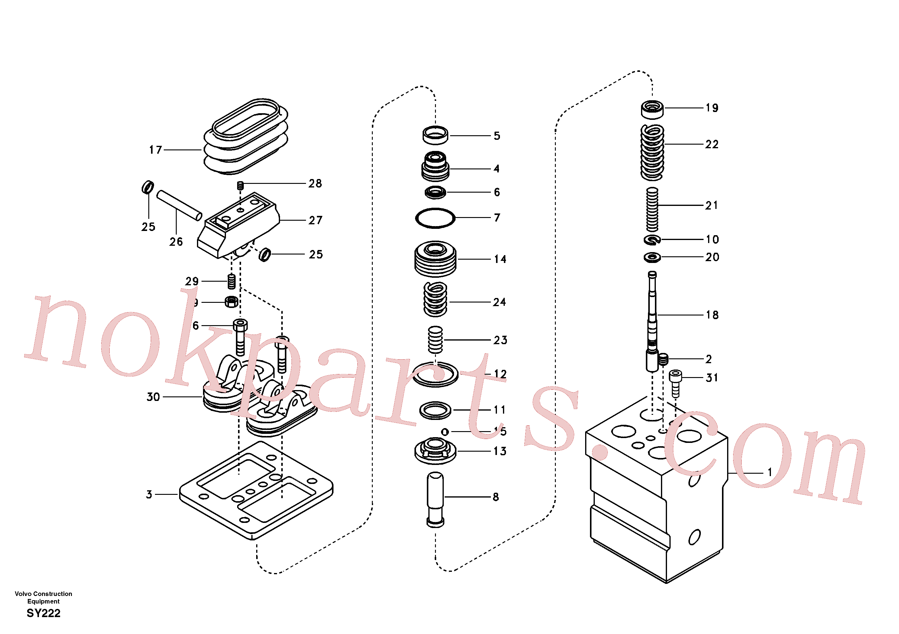 VOE14516635 for Volvo Remote control valve pedal, travel motor(SY222 assembly)