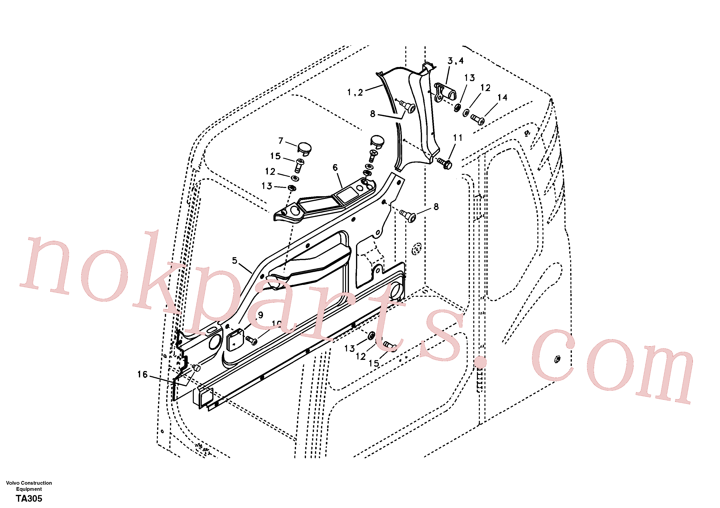 VOE14572455 for Volvo Operator's cab(TA305 assembly)
